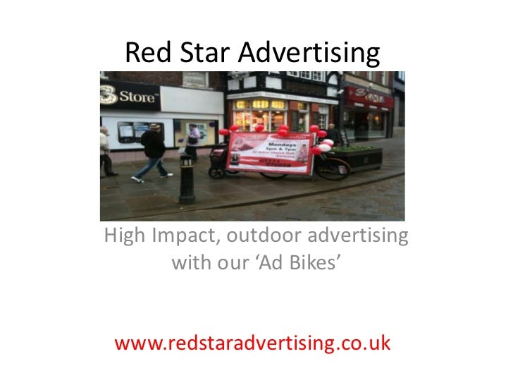Red Star Advertising<br />High Impact, outdoor advertising with our 'Ad Bikes'<br />www.redstaradvertising.co.uk<br />