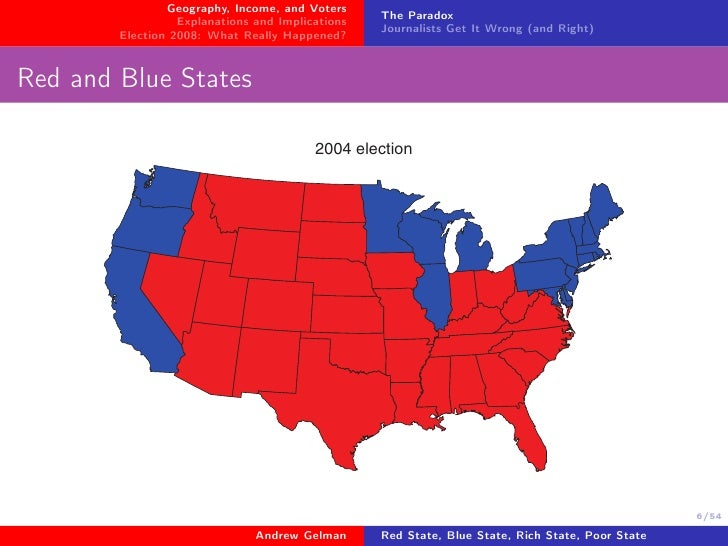 Red State Blue State Rich State Poor State Why Americans ...
