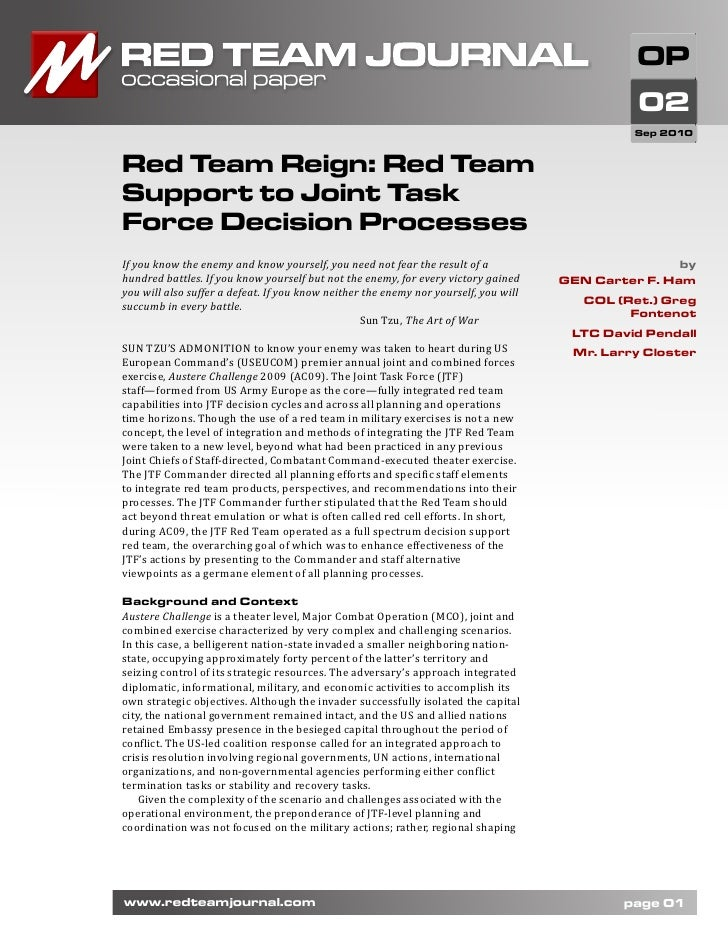 Red Team Rtj Occasional Paper 02 Sep 2010