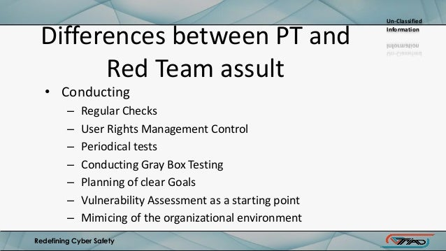 Red team penetration testing