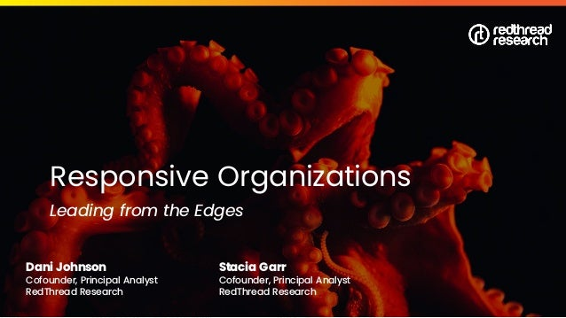 © 2020 RedThread Research. All Rights Reserved Responsive Organizations Leading from the Edges Dani Johnson Cofounder, Pri...