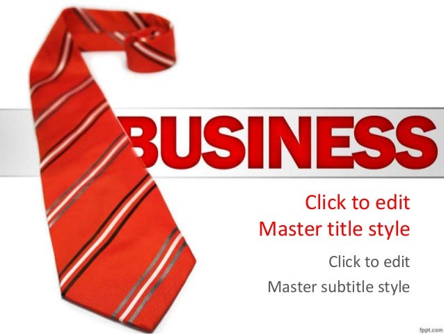 Red tie business power point template whiteboardeeforums click to edit master title style click to edit master subtitle style ccuart Image collections
