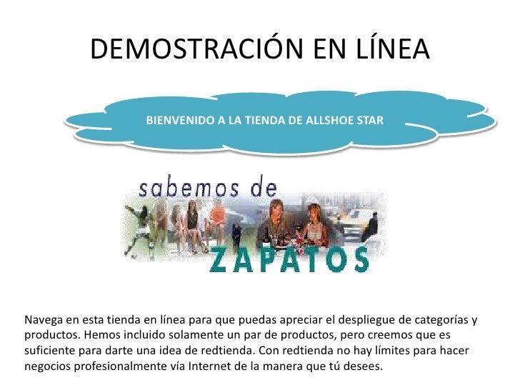 DEMOSTRACIÓN EN LÍNEA<br />BIENVENIDO A LA TIENDA DE ALLSHOE STAR<br />