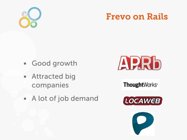 Frevo on Rails• Good growth• Attracted big  companies• A lot of job demand