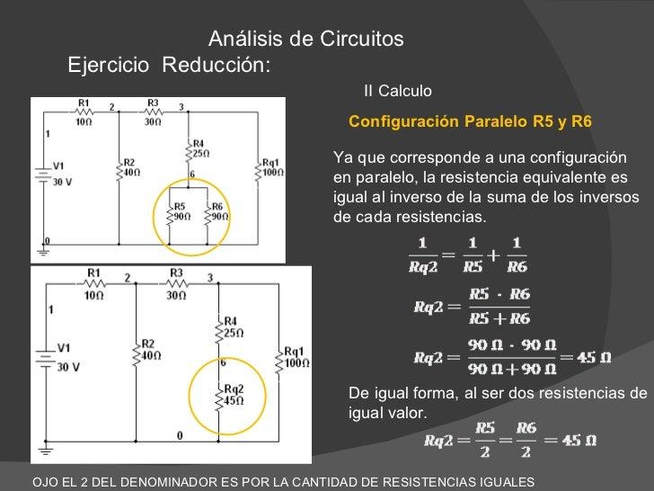 Circuito En Paralelo Ejemplos : Reducción de resistencias