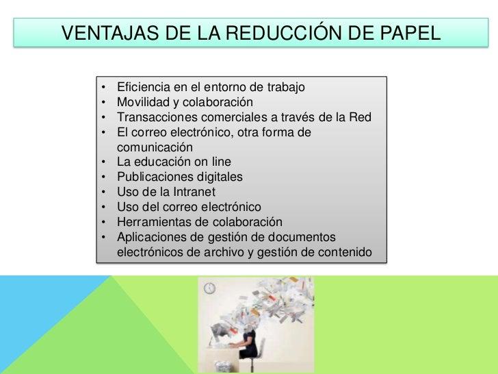 Reducci n o eliminaci n del uso del papel - Oficinas de consumo ...