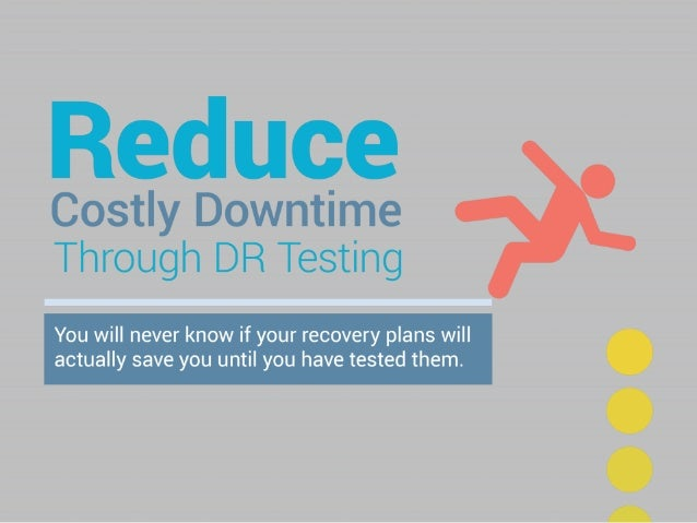 Reduce Costly Downtime With DR Testing. You will never know if your recovery plans will actually save you, until you have ...