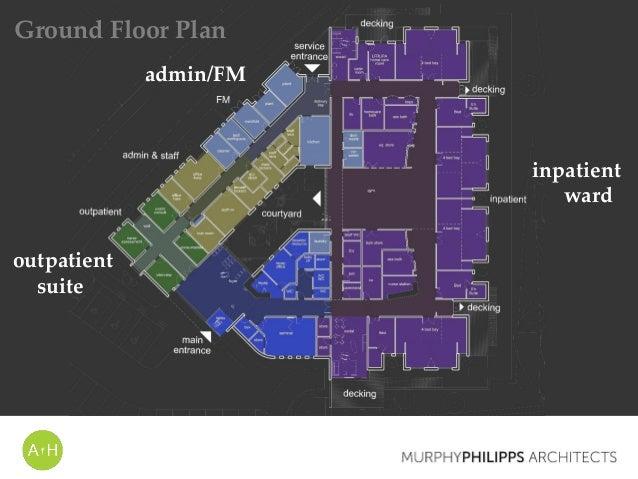 inpatient ward admin/FM outpatient suite Ground Floor Plan