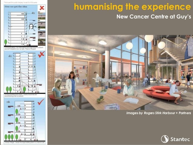 humanising the experience New Cancer Centre at Guy's Images by Rogers Stirk Harbour + Partners