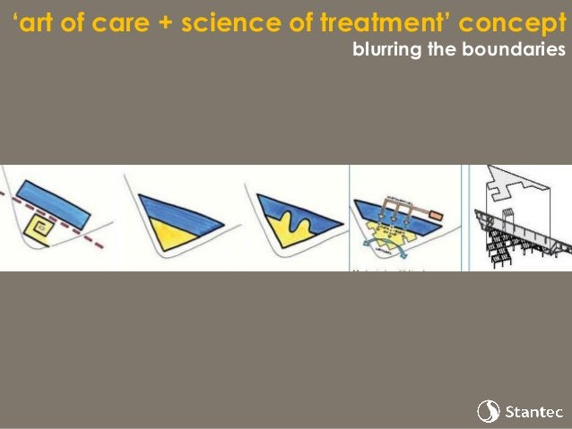 'art of care + science of treatment' concept building threshold - Welcome Village - New Cancer Centre at Guy's Images by R...
