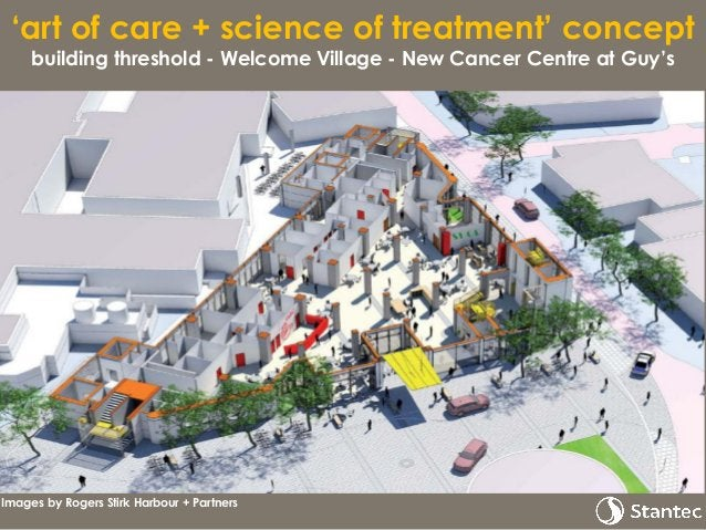 'art of care + science of treatment' concept outpatient clinics – New Cancer Centre at Guy's Interaction & transparency sc...