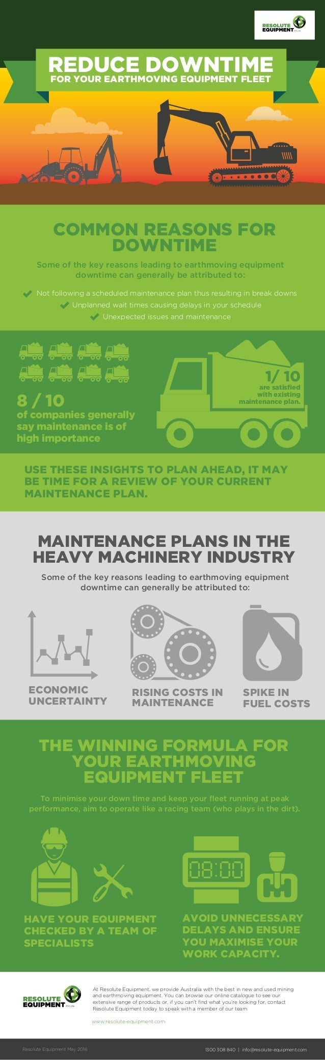 COMMON REASONS FOR DOWNTIME Some of the key reasons leading to earthmoving equipment downtime can generally be attributed ...