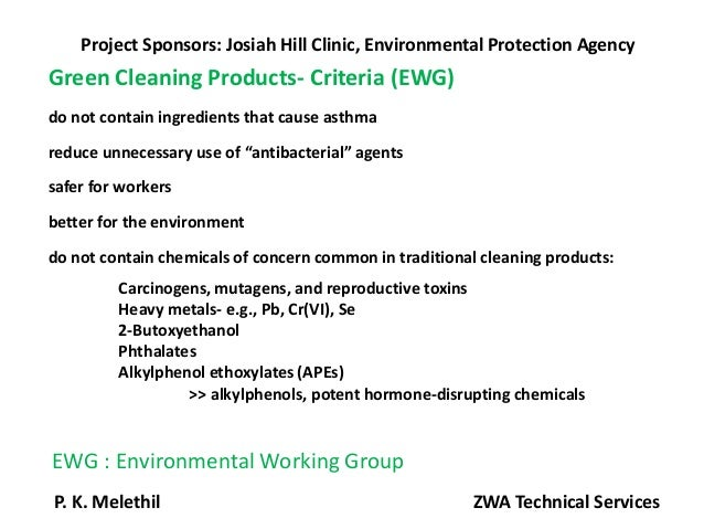 Reduced toxics use in communities & environmental health