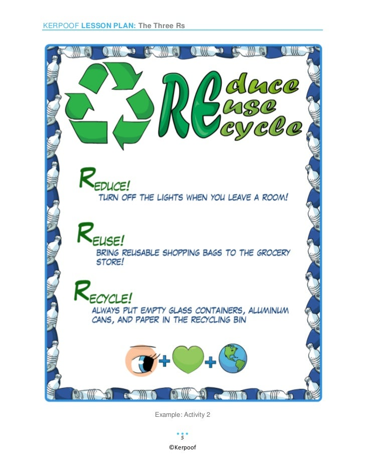 how to draw reduce reuse recycle