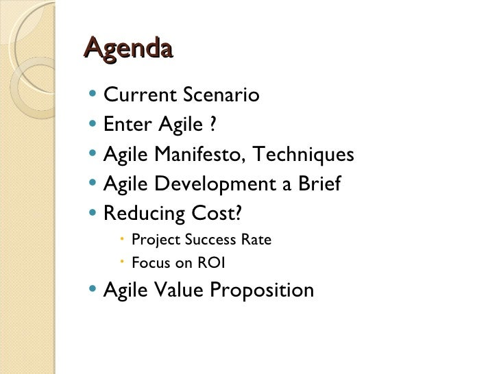 Reducing Cost With Agile Slide 2