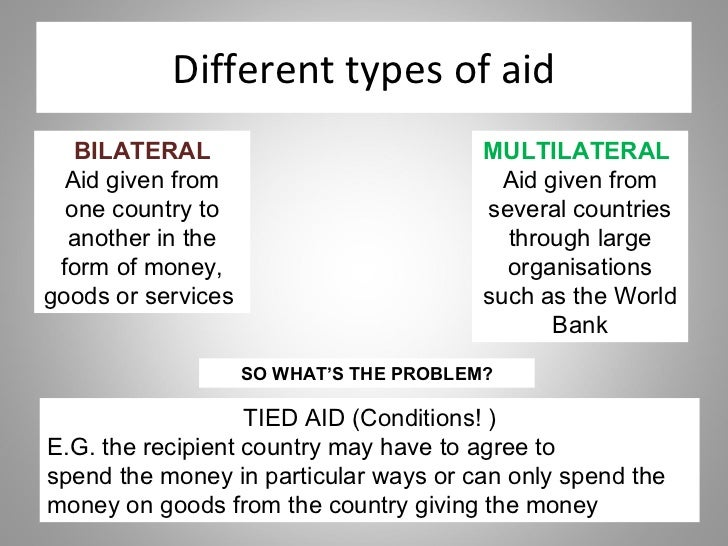 Bilateral versus multilateral aid channels