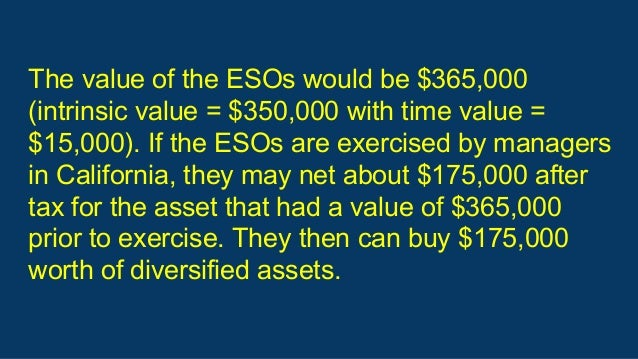 Employee stock options exercise and hold