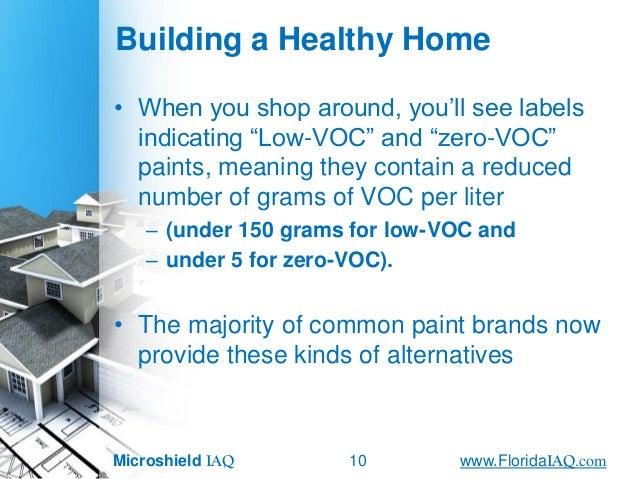 Reducing Voc S In New Homes John Lapotaireciec Iaq