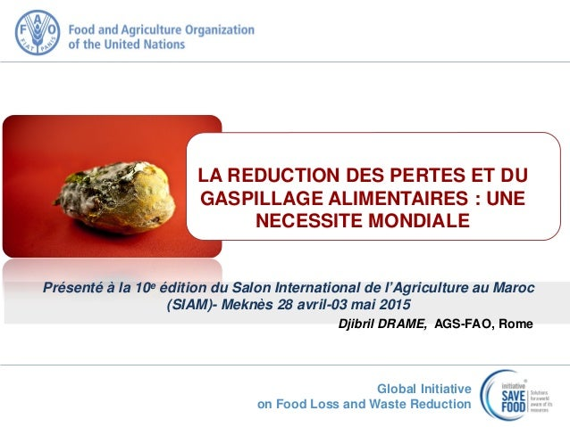 Global Initiative on Food Loss and Waste Reduction Présenté à la 10e édition du Salon International de l'Agriculture au Ma...