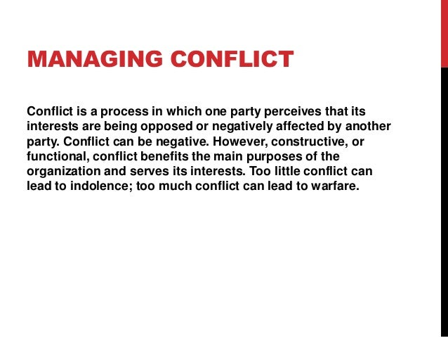 how to solve conflict in a team
