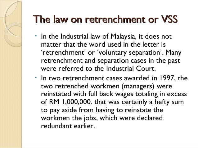 Redundancy retrenchment and separation 9 the law on retrenchment thecheapjerseys Images