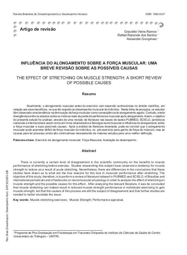 Revista Brasileira de Cineantropometria & Desempenho Humano  Artigo de revisão  ISSN 1980-0037  Gracielle Vieira Ramos 1 R...