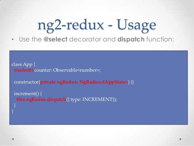 Redux data flow with angular 2