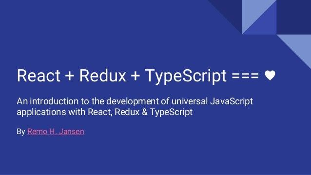 React + Redux + TypeScript