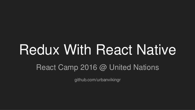 Redux with React Native