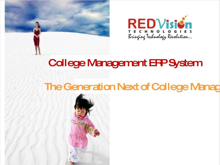 College Management ERP System The Generation Next of College Management