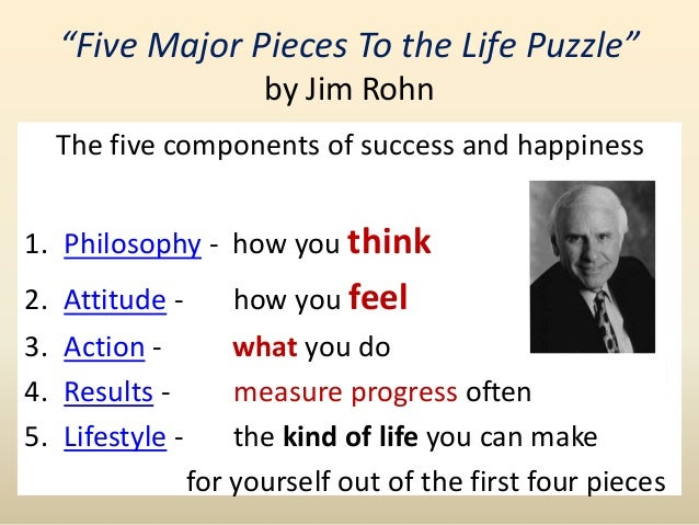 jim rohn 5 pieces life puzzle pdf