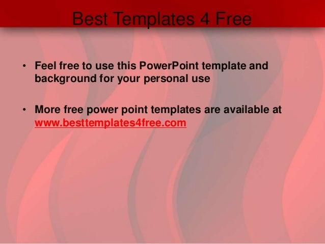 Red waves powerpoint template 4 best templates toneelgroepblik Image collections