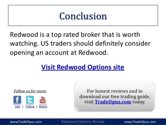Redwood binary options demo account