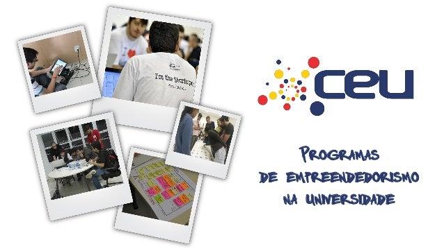 Programas  de empreendedorismo na universidade