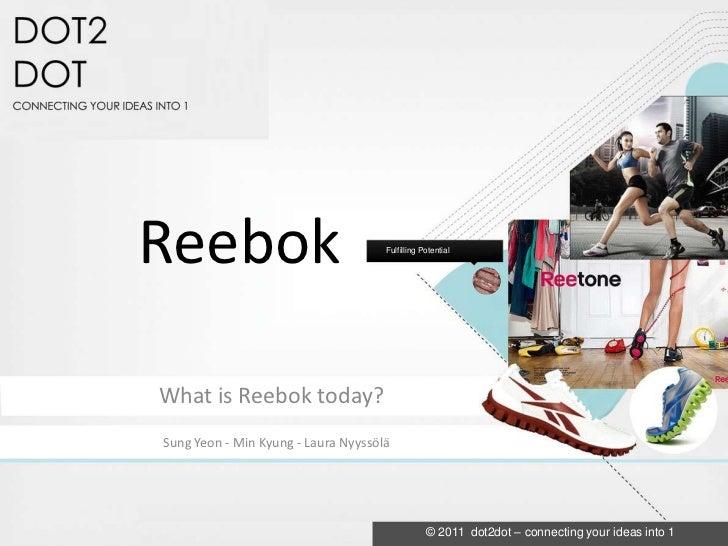 Reebok                               Fulfilling PotentialWhat is Reebok today?Sung Yeon - Min Kyung - Laura Nyyssölä      ...