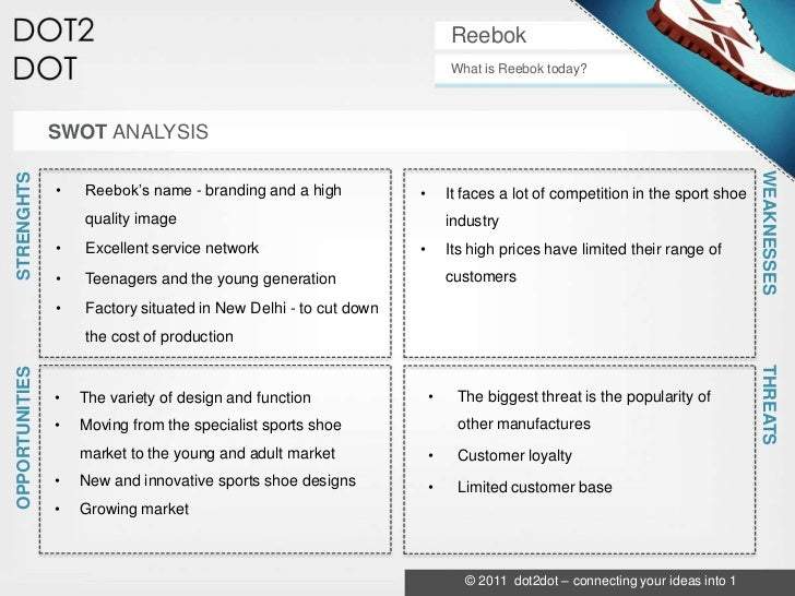 weakness of reebok Apple inc swot analysis & recommendations updated jan 29,  such opportunity directly relates to the weakness of the limited distribution network of the company.