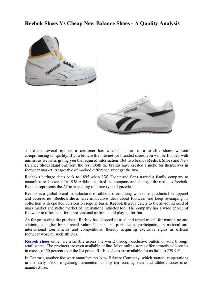 New Balance Vs Reebok Walking Shoes
