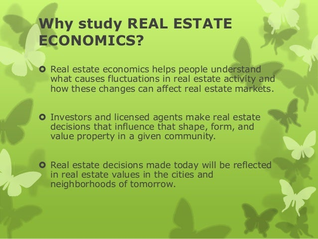 Real Estate Economics : Real estate economics