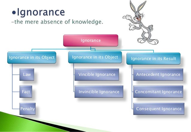 """""""Invincible Ignorance       """"Vincible Ignorance does notdestroys the voluntariness of   destroy the voluntariness of      ..."""