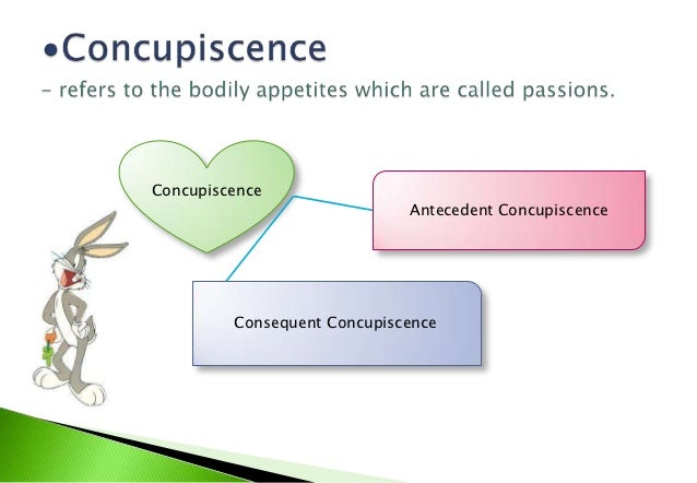"""Concupiscence                                                          """"Consequent     """"Antecedent                """"Anteced..."""