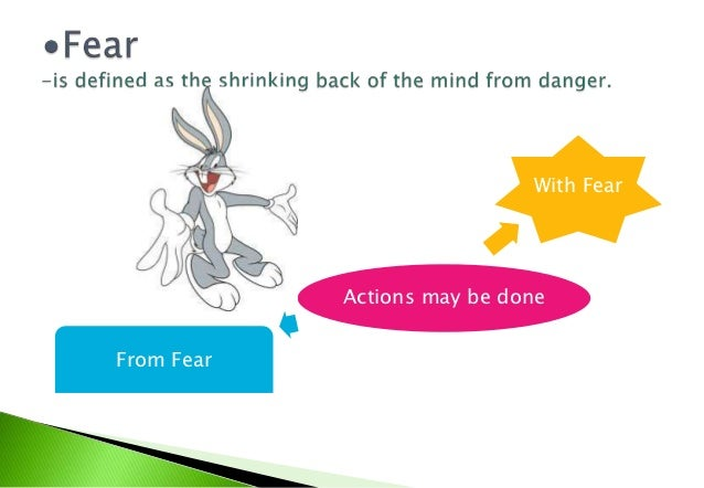 """Fear""""An act done from fear, however great, is simply     voluntary, although it is regularly also           conditionally ..."""