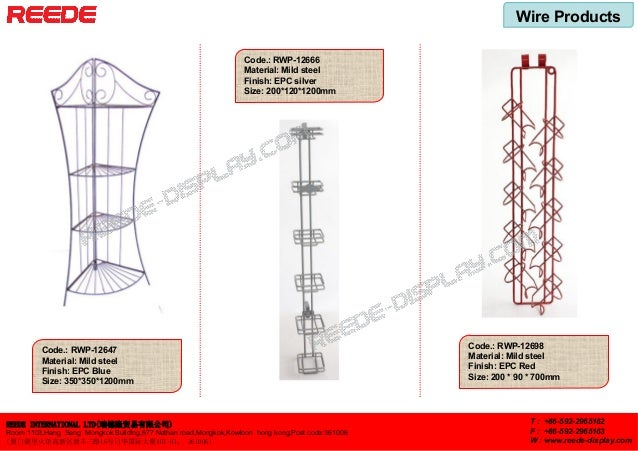 Wire displays from Reede Slide 2