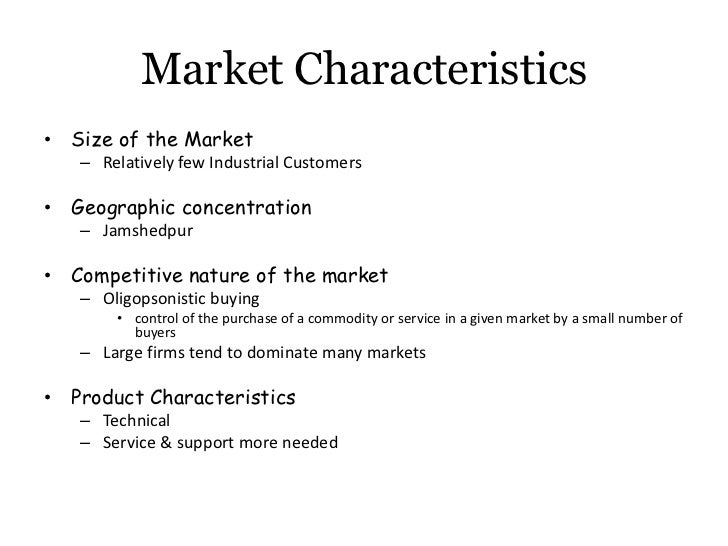 characteristics of industrial marketing --general characteristics, marketing characteristics and production characteristics ideas with the greatest potential are selected for further research do they match the organizations goals (dupont and ici have many patents that they have not exploited for this very reason.