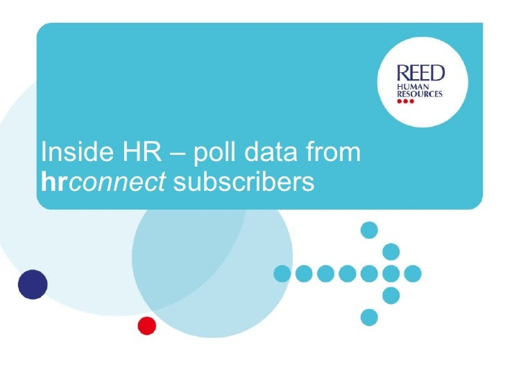 Inside HR – poll data from  hr connect  subscribers