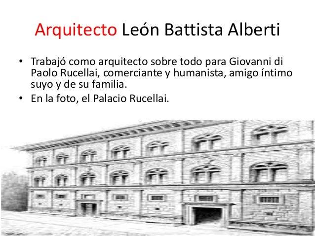 Le n battista alberti re edificatoria fabiola aranda for Arquitectos y sus obras