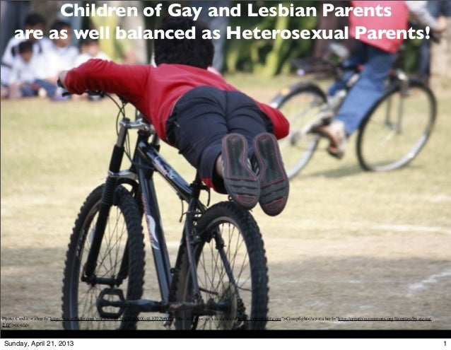 """Children of Gay and Lesbian Parents     are as well balanced as Heterosexual Parents!Photo Credit: <a href=""""http://www.flic..."""