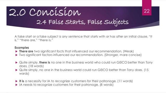 false start examples