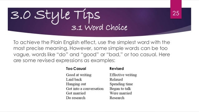 Reed's Guide To Writing Style