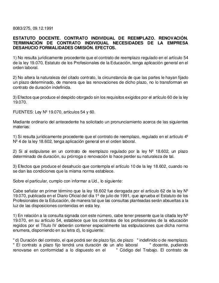 Reemplazo docente for Modelo contrato indefinido