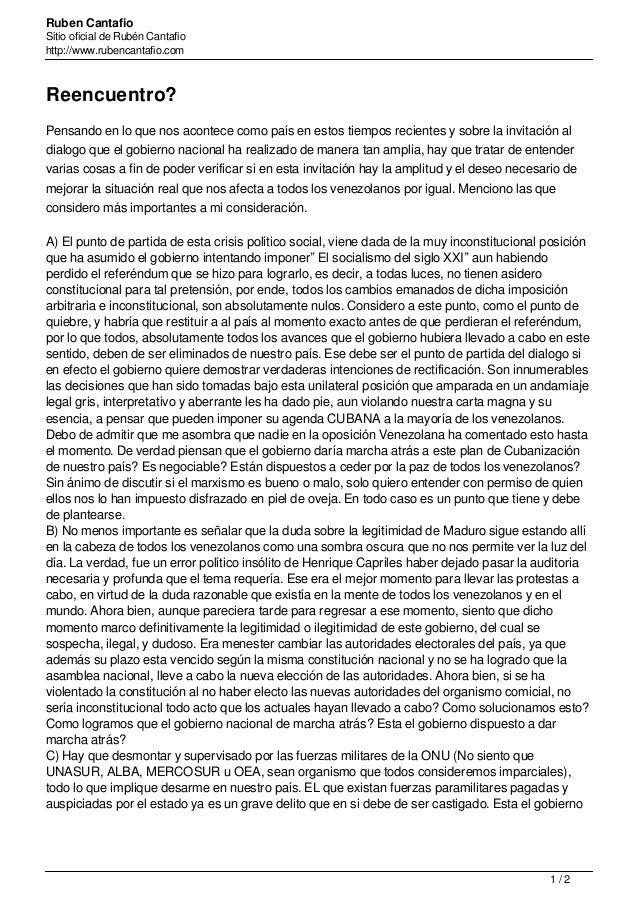 Ruben Cantafio Sitio oficial de Rubén Cantafio http://www.rubencantafio.com Reencuentro? Pensando en lo que nos acontece c...